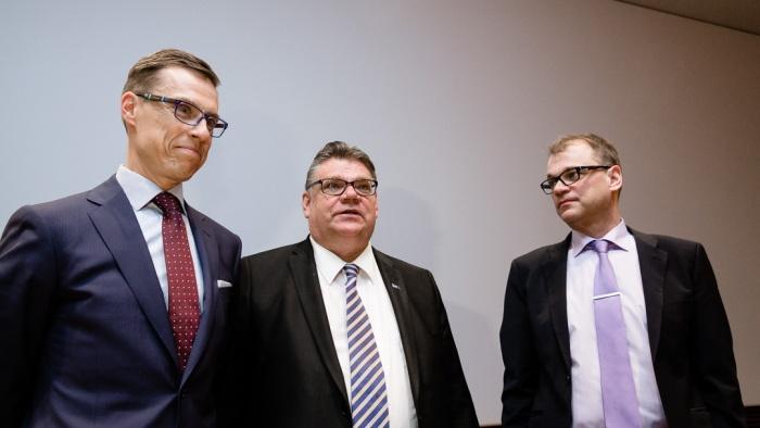 Stubb Soini Sipilä hallitusneuvottelijat